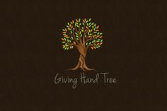 Giving Hand Tree Logo by vraione on @creativemarket