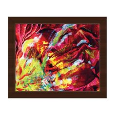 Horizon Caverna Abstract Framed Canvas Wall Art Print