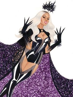 Nicki Minaj by kevinwada on deviantART (aka Kevin Wada draws the queen and Ariel dies RIP me put this on my grave)