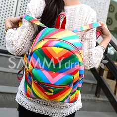 Trendy Women's Satchel With Rainbow and Color Block Design Block Design, Baby Kids Clothes, Sammy Dress, Vera Bradley Backpack, Satchel, Rainbow, China, Costumes, Traditional