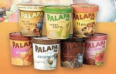 Palapa Azul - sold at Whole Foods- SWEET CORN ICE CREAM AND MEXICAN CHOCOLATE OH AND FLAN.