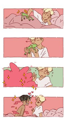 Genderbent classic fairy tale series: The Frog Prince. Bd Comics, Cute Comics, Character Art, Character Design, Kpop Fanart, Cute Gay, Gay Art, Pretty Art, Fujoshi