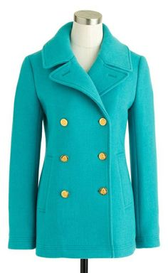 Peacock coat // this color! #design_inspiration