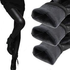 女性パンツ冬暖かいペンシルパンツタイツ女性弾性底革ズボンプラス2層女性のファッションパンツ&カプリパンツ