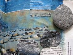 CAROLYN SAXBY MIXED MEDIA TEXTILE ART: A postcard from St. Ives