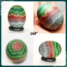 Polymer clay on egg shell