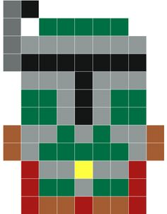 Boba Fett pixel art -Stickaz