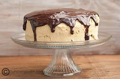 chocolate peanut butter buckeye cake - use the other peanut butter cheesecake recipe for the cheesecake portion