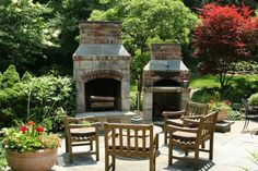 Fireplace & Pizza oven traditional patio