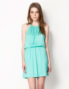 Bershka España - Vestido Bershka goma cintura
