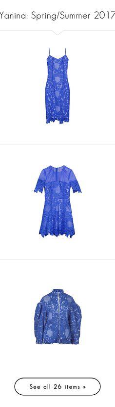 """Yanina: Spring/Summer 2017"" by livnd ❤ liked on Polyvore featuring yanina, springsummer2017, dresses, eyelet lace dress, form fitting dresses, figure hugging dress, form fitted dresses, blue dress, short-sleeve dresses and blue short sleeve dress"