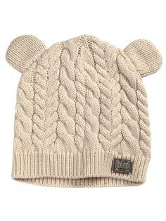 #Lipsy #CableKnit #Beanie | Shop it here: http://www.very.co.uk/lipsy-cable-knit-beanie/1324180218.prd #bear #ears #hat #pompom #bobblehat #Winter #Warmer #fashion #style