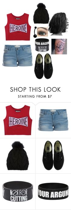 """sleeping with sirens concert"" by youknowwhatimsaying ❤ liked on Polyvore featuring Pieces, Yves Salomon and Vans"