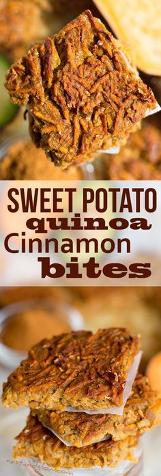 Sweet Potato Quinoa Cinnamon Bites Recipe - Vegan and Gluten-free via @nestandglow