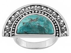 Southwest Style By Jtv(Tm) Crescent Shape Cabochon Turquoise Sterling