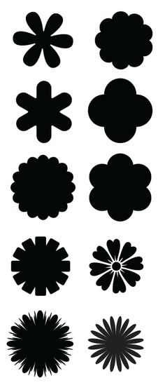 Flock bloem vorm flockfolie. Flower shape template.