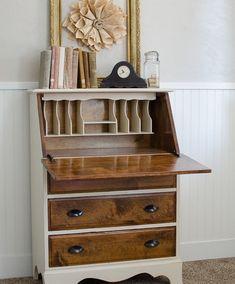 Vintage Fold Down Desk