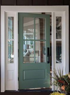 Best exterior paint colors for house black trim front porches Ideas Front Door Paint Colors, Exterior Paint Colors For House, Painted Front Doors, Paint Colors For Home, Paint Colours, Exterior Door Handles, Exterior Front Doors, Black Exterior, Front Entry