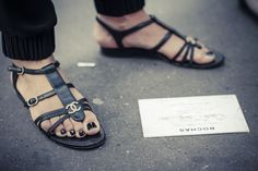 Chanel shoes at Rochas fashion show - Paris Fashion Week SS15 by Amandine Dowle Photography