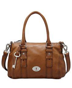 Fossil Handbag, Maddox Leather Satchel