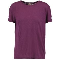 TODD SNYDER + CHAMPION Boyfriend Supima cotton and modal-blend T-shirt ($34) ❤ liked on Polyvore featuring tops, t-shirts, cotton modal tops, purple top, boyfriend top, boyfriend tee and boyfriend fit t shirt