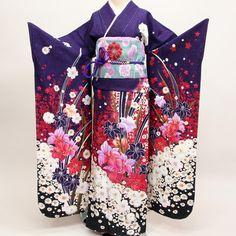 (株)安田屋即決即買新品正絹振袖仕立て上がり京友禅★百花繚乱 - Yahoo!オークション - Yahoo!オークション ❤ liked on Polyvore featuring dresses and kimono