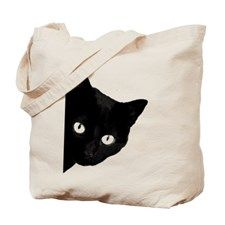 black cat Tote Bag for