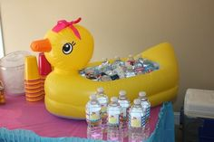 Baby shower ideas for girls snacks first birthdays ideas First Birthday Themes, Baby 1st Birthday, 2nd Birthday Parties, First Birthdays, Rubber Duck Birthday, Rubber Ducky Party, Baby Shower Parties, Baby Shower Themes, Shower Ideas