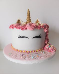 unicorn cake  gâteau licorne Unicorn Party, First Birthdays, Birthday Cake, Cakes, Desserts, Food, Design, Meet, Birthday Cakes