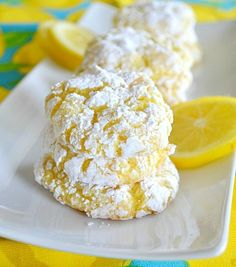 Lemon Crinkle Cookies - uses a cake mix and cool whip!! {guest post}