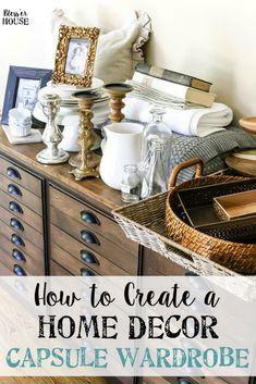 How to Create a Home Decor Capsule Wardrobe | blesserhouse.com