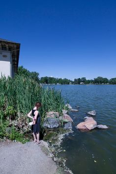 Adorable girl at Smith lake in Washington Park.