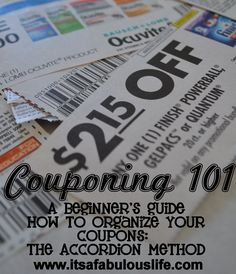 Couponing 101: How to Organize your Coupons - The Accordion Way