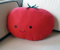 Happy Tomato Pillow Plush. Cute!