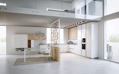 Open Kitchen Design With Living Room