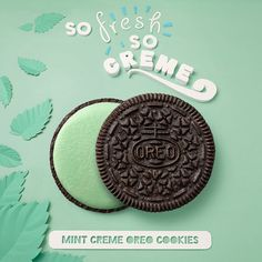 We love the #typography in this gorgeous ad for Mint Creme Oreo Cookies by Adrian + Gidi