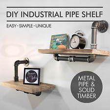 Rustic Industrial DIY Pipe Shelf Vintage Floating Shelves Wall Mount Shelving