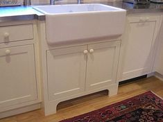 A farm sink can be upmounted, so the rim is not covered by the counters and pull. A farm sink can be upmounted, so the rim is not covered by the counters and pulled forward in the sink base. Stainless Steel Farmhouse Sink, Farmhouse Sink Kitchen, Farm Sink, Kitchen Sinks, Kitchen Redo, White Window Trim, Apron Sink, Ottoman In Living Room, Farmhouse Furniture