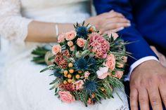 Sommerliche Hochzeit zu Dritt in Blau und Peach   Hochzeitsblog - The Little Wedding Corner
