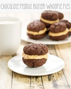 Chocolate Peanut Butter Whoopie Pies | From: sweetpeaskitchen.com