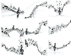 Musical Note Set1 Music Tattoos, Leg Tattoos, Body Art Tattoos, Tatoos, Music Illustration, Music Page, Aesthetic Template, April 4th, Music Notes