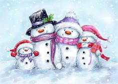 Christmas Scenes, Christmas Snowman, All Things Christmas, Christmas Crafts, Christmas Ornaments, Winter Things, Snowman Images, Snowmen Pictures, Christmas Pictures