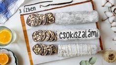Csokiszalámi recept, sütés nélkül, 3 ízben ◾ EGYSZERŰ RECEPTEK Youtube, Decor, Decoration, Decorating, Youtubers, Youtube Movies, Deco
