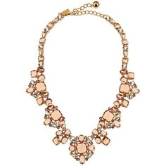 kate spade new york make me blush crystal statement necklace (€250) ❤ liked on Polyvore featuring jewelry, necklaces, pink multi, crystal jewellery, kate spade, pink statement necklace, pink crystal necklace and crystal jewelry