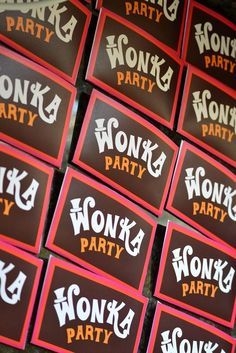 Wonka Party- Thanks Creative Little Stars for an awesome printable party - https://www.etsy.com/transaction/139981603?ref=fb2_tnx_title