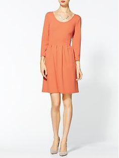 {Bleecker Ponte Dress} Tinley Road - love the contrast zipper up the back, too Winter Wedding Outfits, Kate Middleton Style, Dressed To Kill, Petite Fashion, Fashion Outfits, Womens Fashion, Dress To Impress, Dress Skirt, Dresses For Work