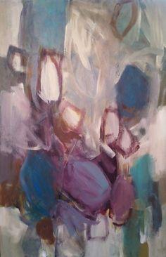Ephemera. 36x24 inch acrylic on canvas by Becky Fixter