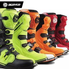SCOYCO Color Off-road Racing Boots Motorcycle Boots Motocross Motorbike Riding Long Knee High Shoes Heavy Protective Gear Motorcycle Safety Gear, Waterproof Motorcycle Boots, Motorcycle Riding Boots, Motorcycle Leather, Motorcycle Outfit, Waterproof Boots, Moto Boots, Leather Boots, Shoe Boots