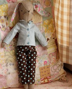 Little Pants and Shirt for Rabbits Sewing Pattern
