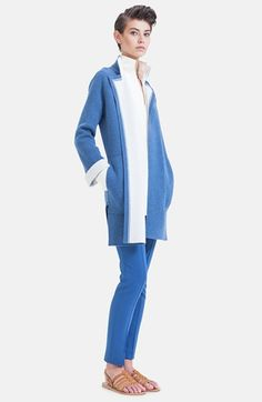 Akris Bicolor Double Face Cashmere Knit Coat available at #Nordstrom